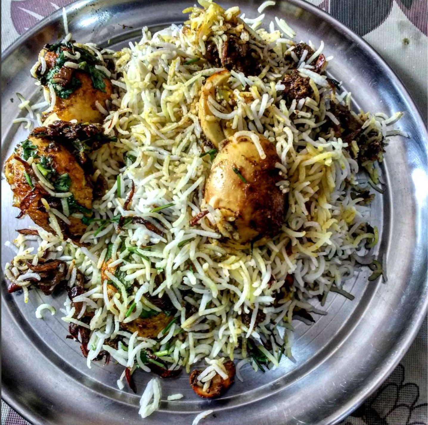 An ancient-old traditional recipe of Mughlai Biryani but remains to be a favourite among Biryani lovers! Photo: Swapnil Keshari