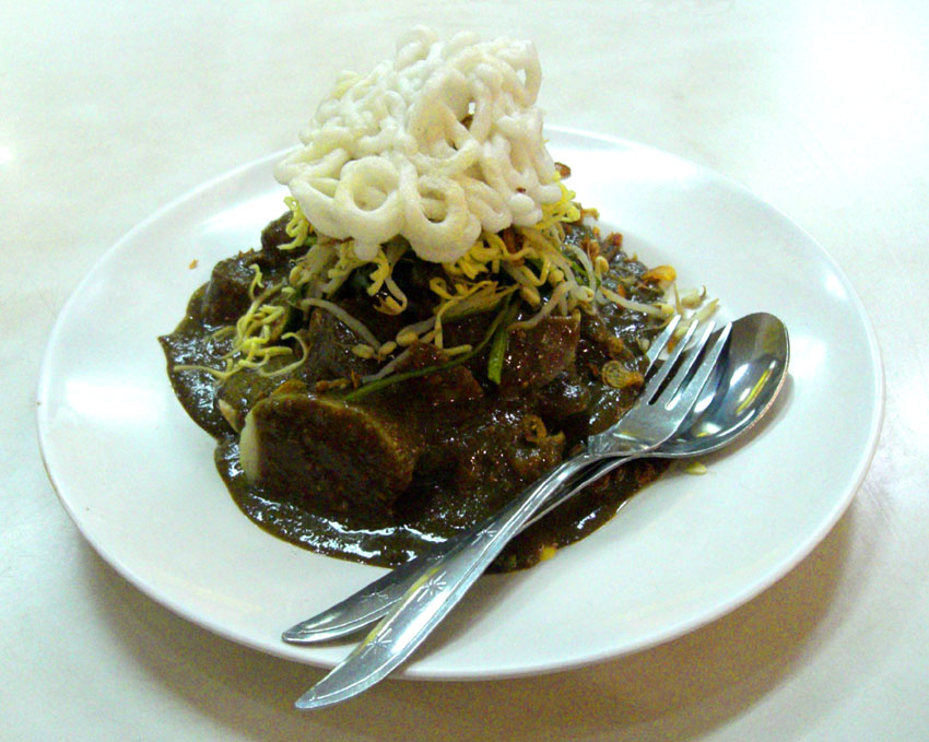 Rujak Cingur, made from buffalo snout is a specialty of Surabaya's version of Rojak! Photo: Gunkarta