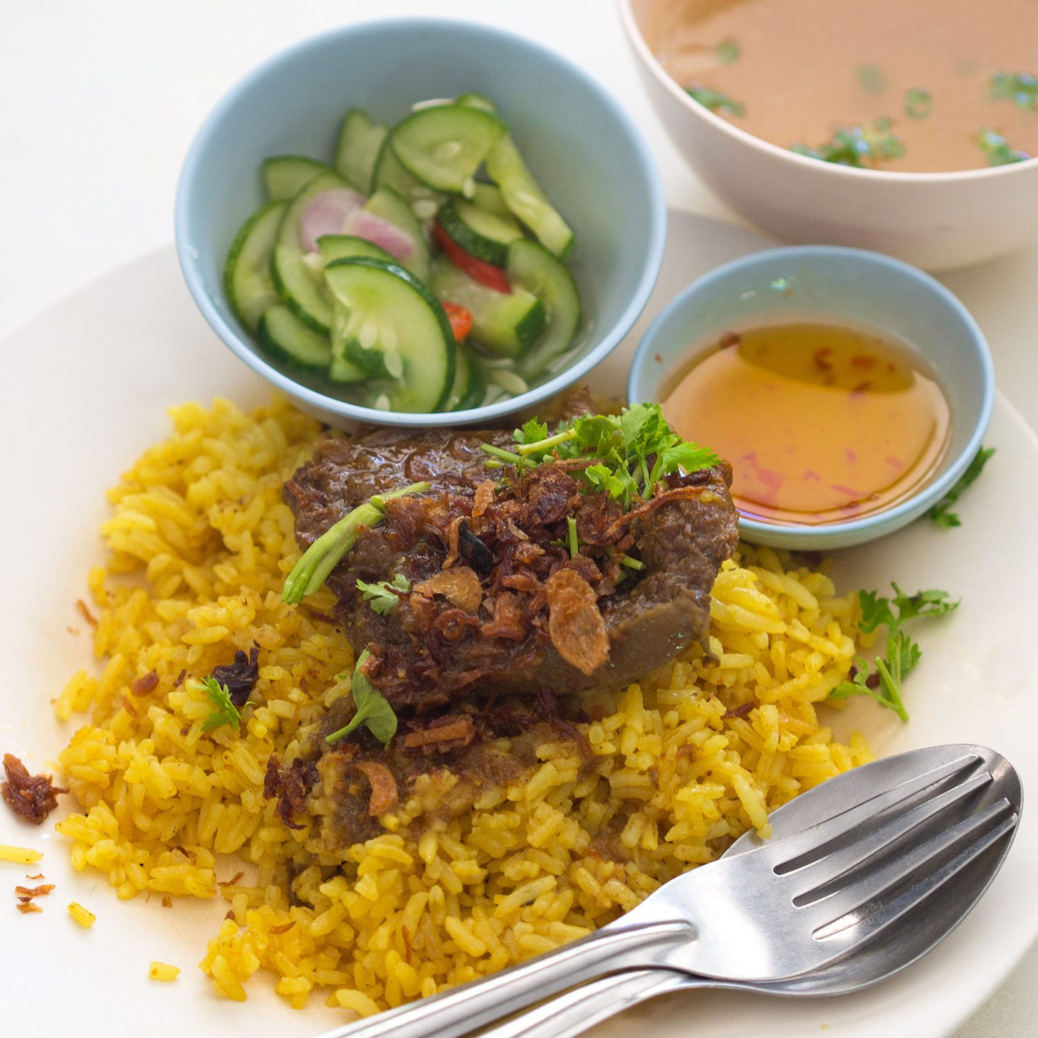 Thai Beef Biryani like this one is called Khao Mok Nuea. Have you tried one of these?