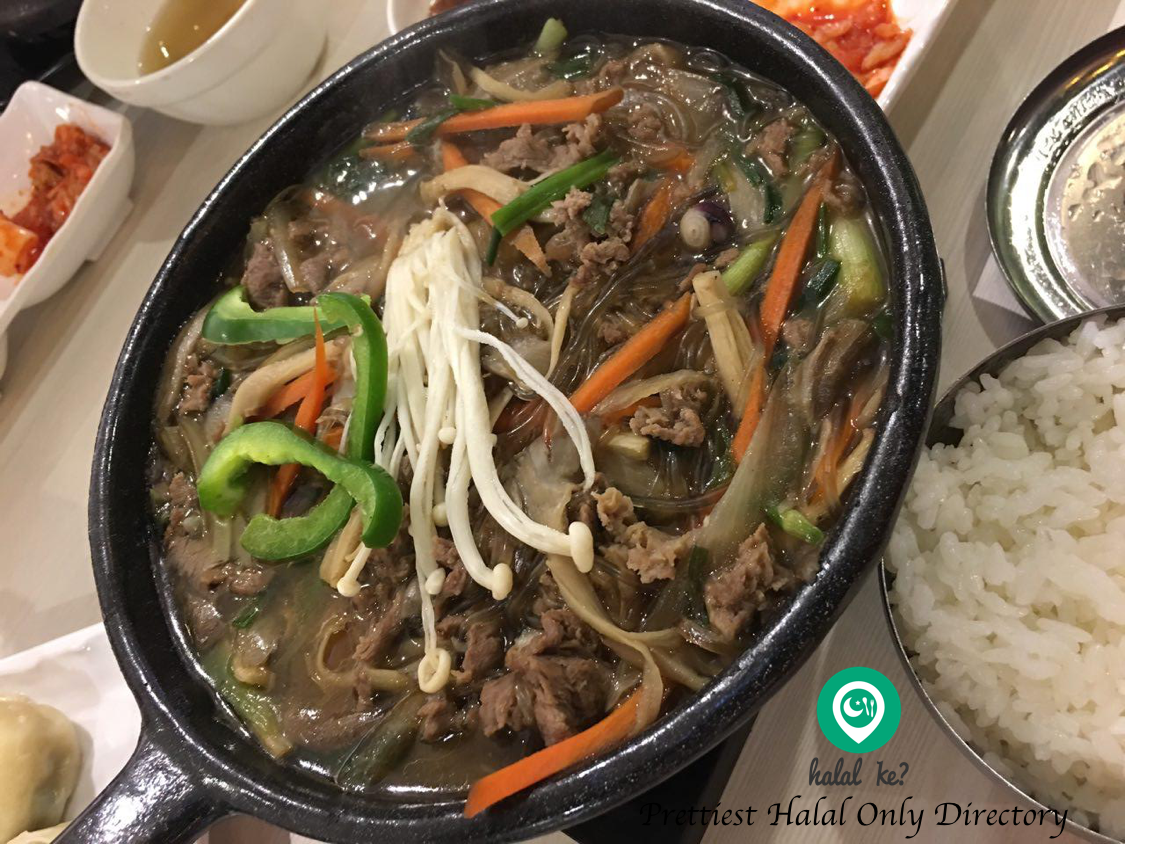 Sopoong beef with rice